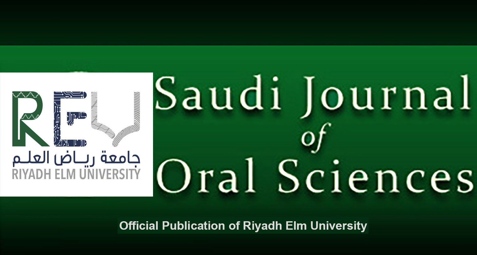 Saudi Journal of Oral Sciences